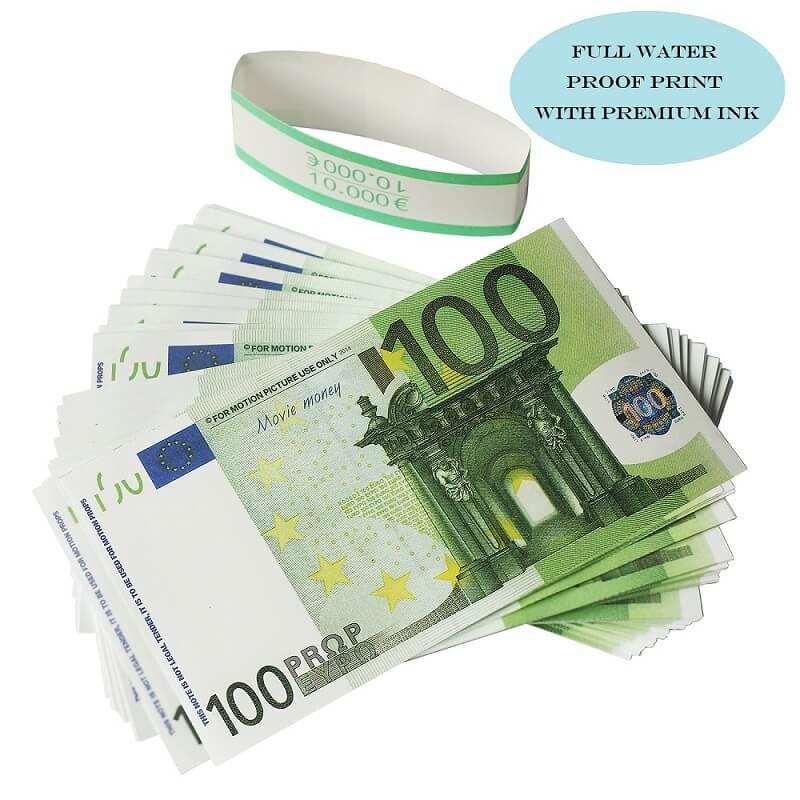 Заготовки Евро Продажа € € 100 Заготовки Flash Très Réaliste De 100 Евро