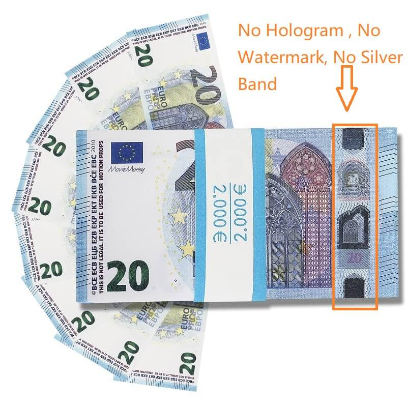 Faux Billet 20 Euro For Sale|Fake Euros For Film ,Kid Play Euro Ticket