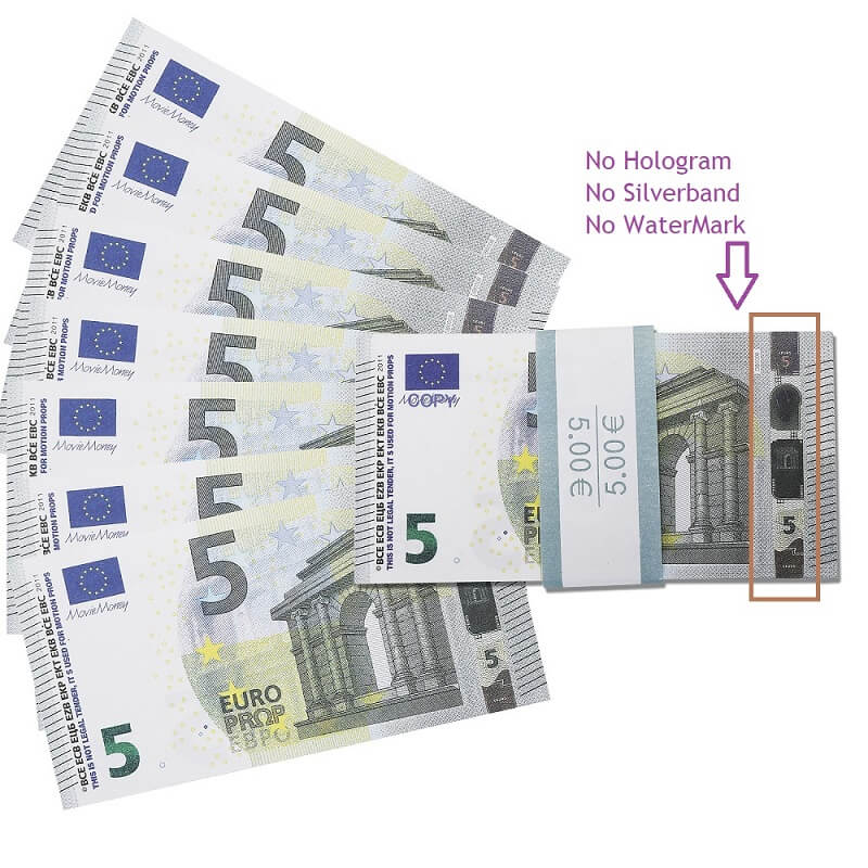 Faux Billet 5 Euro For Sale|Fake Euros For Film ,Kid Play Euro Ticket