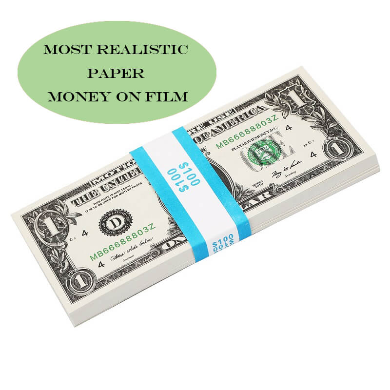 Most Realistic Prop Money, Movie Money & Play Money Fake Dollar 1 Bill