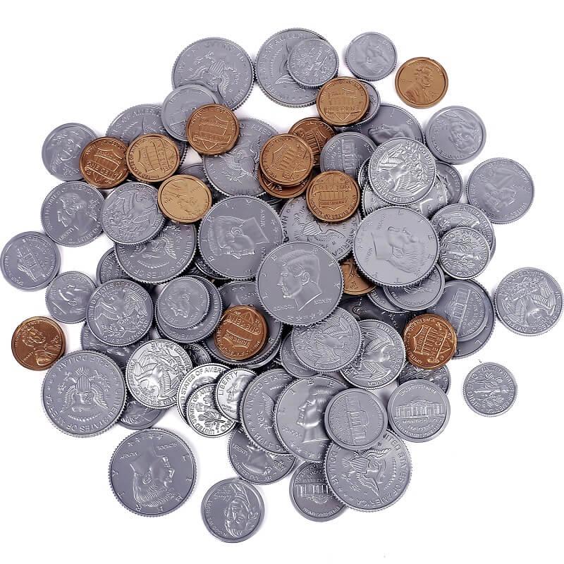 Притворись Play Money Coin | Party Props | Товары для вечеринок для обучения, математика