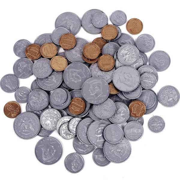 Pretend Play Money Coin| Party Props|Party Supplies For Learning,Math