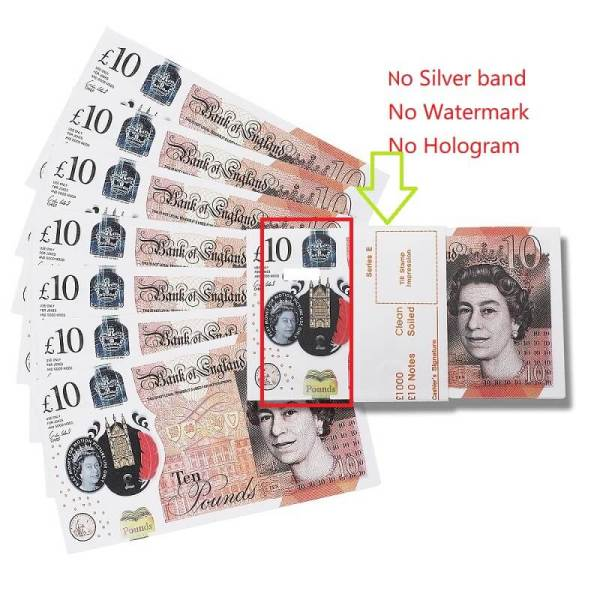 100×£10 Prop Money Uk Pounds| GBP Bank £10 British Pounds |Movies Play Fake Casino