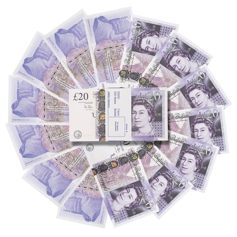 20000×£20 Fake British Pounds For Sale|Prop Money UK Pounds GBP Bank Notes