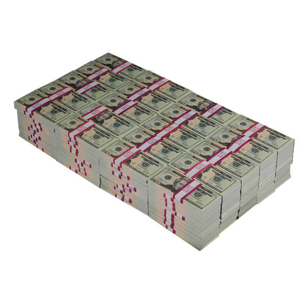 Prop Money 20s Realistic Play Money|Full Print 2 Sided