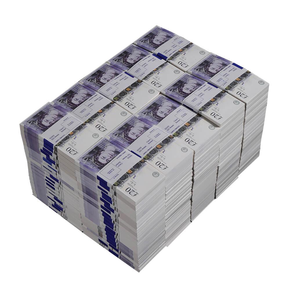 20000 × £ 20 Поддельные британские фунты на продажу