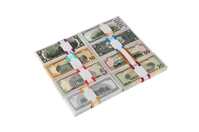 Play Money | Mix Set Счета 1 / 2 / 5 / 10 / 20 / 50 / 100 $ для детей Play