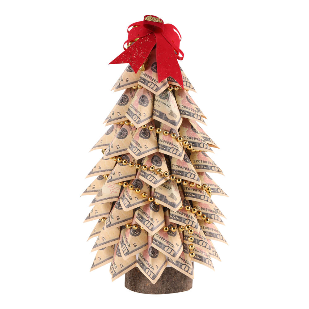 10 Dollars Hand Made Money tree For Home Decoration/Christmas/Birthday New year gift