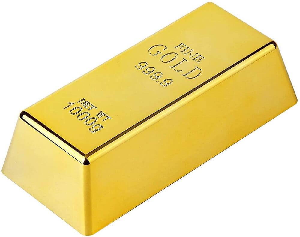 Дверной стопор из золотого слитка, поддельный золотой слиток пресс-папье, золотой дверной клин для украшения домашнего офиса