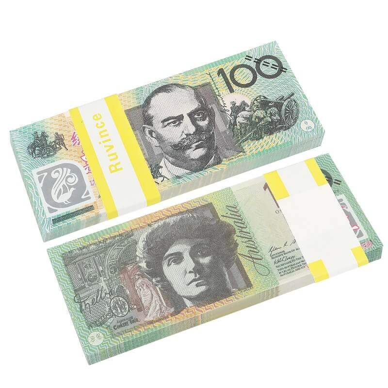 Prop Australian Dollar|5/10/20/50/100 | Australian Dollar AUD Banknotes| Paper Play Money Movie Props
