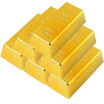 Gold Bullion Door Stopper,Fake Gold Bar Paperweight Gold Doorstop Door Wedge for Home Office Decoration