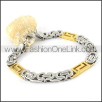 Two Tone Plated Bracelet b000316