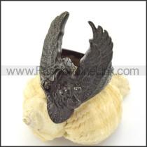 Black Plating  Casting Eagle Ring r001212