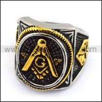 Exquisite Stainless Steel Casting Ring  r003615