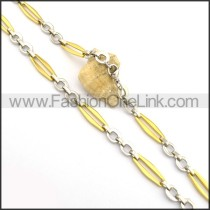 Unique Gold and Silver Plated Necklace n000772