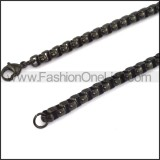 Black Plated Necklace n000613