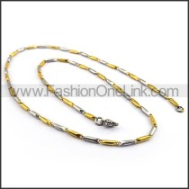 Two Tone Plated Necklace n001143