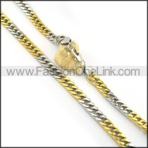 Exquisite Two Tone Plated Necklace n000601