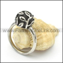 Stainless Steel Leaf  Rings r000434