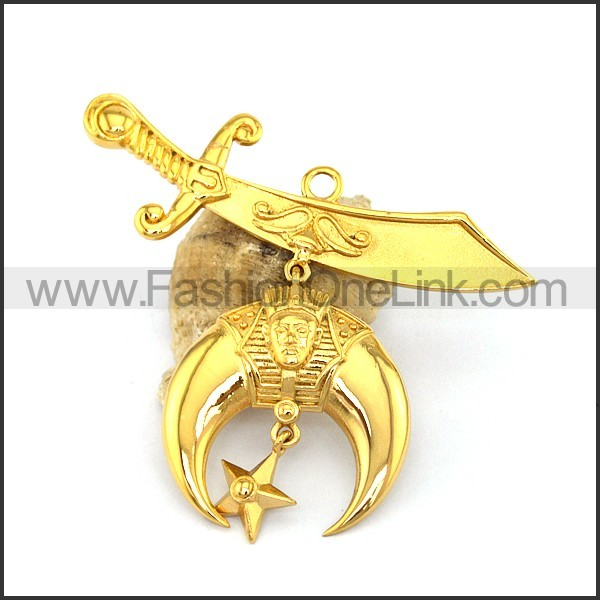 Delicate Stainless Steel Plating Pendant  p003042
