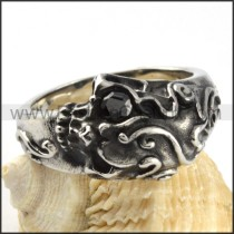 Gothic Stainless Steel Ring r000096