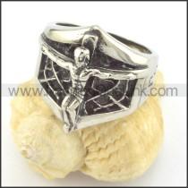 Stainless Steel Jesus Ring r001407