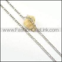 Silver Interlocking Chain Stamping Necklace     n000286