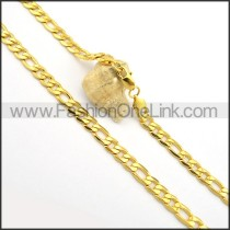 Unique Golden Plated Necklace n000692