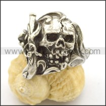 Unique Stainless Steel Skull Ring  r002715