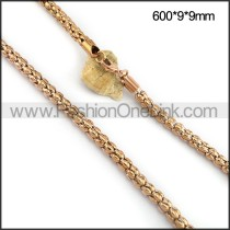 Rose Gold Plated Necklace n001095
