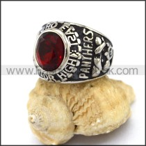 Vintage Stainless Steel Stone Ring   r003248
