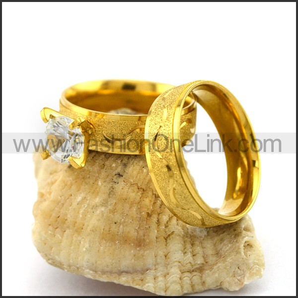 Graceful Stainless Steel Couple Rings     r002982