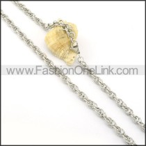 Silver Stamping Necklace    n000310