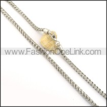Simple Silver Stamping Necklace   n000521