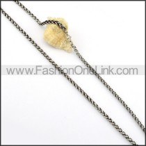 Silver Stamping Necklace      n000250