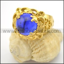 Exquisite Prong Setting Blue Stone Ring r001713