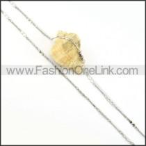 Silver Rhombic Small Chain    n000210