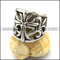 Delicate Stainless Steel Cross Ring    r002942