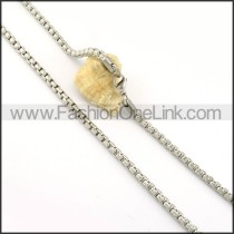 Delicate Silver Stamping Necklace    n000308