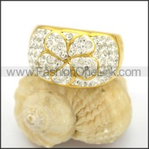 Exquisite Shiny Stone Stainless Steel Ring r002782