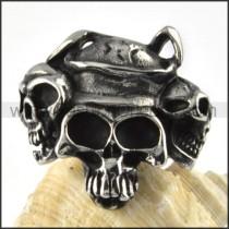 Human Pekingese Stainless Steel Ring r000085