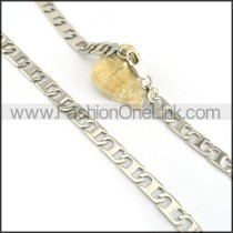 Silver Stamping Necklace n000622