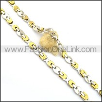 Delicate Gold and Silver Plated Necklace n000782