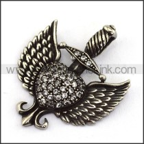 Delicate Stainless Steel Casting Pendant   p003872