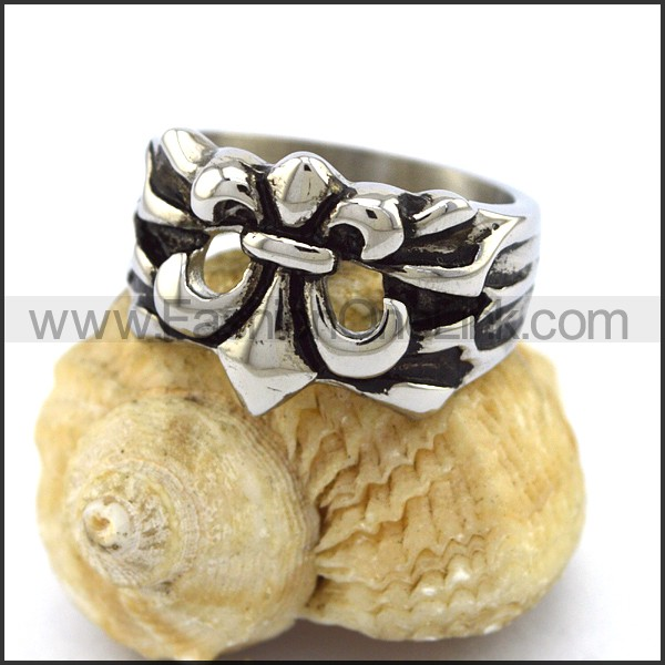 Stainless Steel Cross  Ring r003364