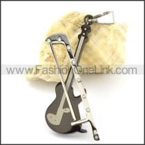 Mini Fiddle Stainless Steel Pendant  p000966
