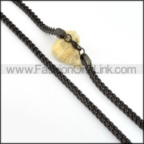 Black Plated Necklace    n000222