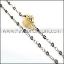 Decent Two Tone Plated Necklace n000829