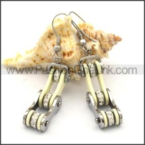 Fashion Stainless Steel Biker Earrings    e001057