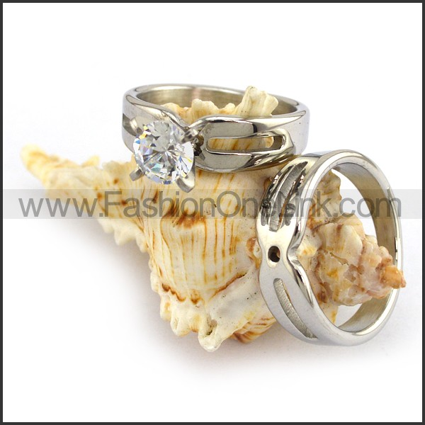 Stainless Steel Couple Rings   r003642